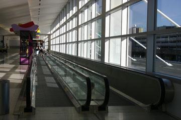 seatac airport moving walkway