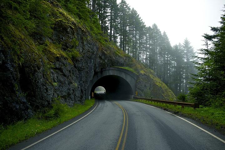 road tunnel near Port Angeles, Washington