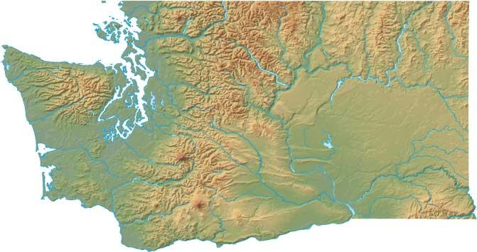 Washington relief map